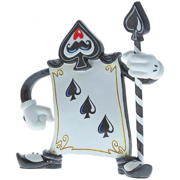 'Miss Mindy' Card Guard Three of Spades Figurine
