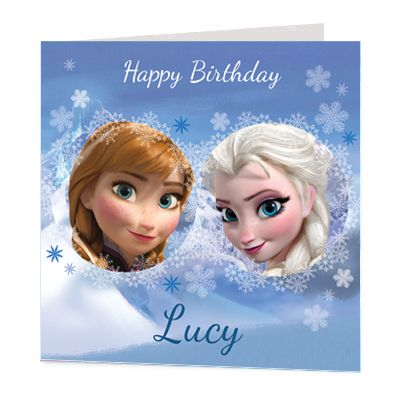 Anna & Elsa Luxury Personalised Card