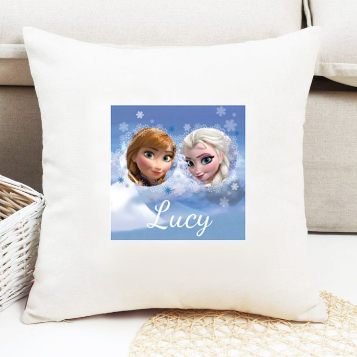 Anna & Elsa Personalised Cushion