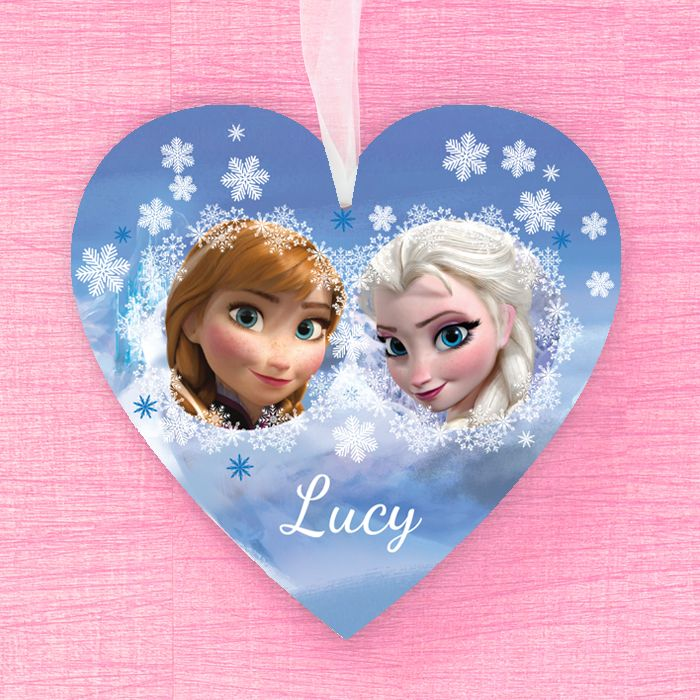 Anna & Elsa Personalised Hanging Heart