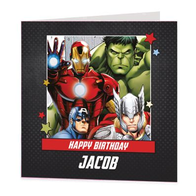Avengers Group Luxury Personalised Card