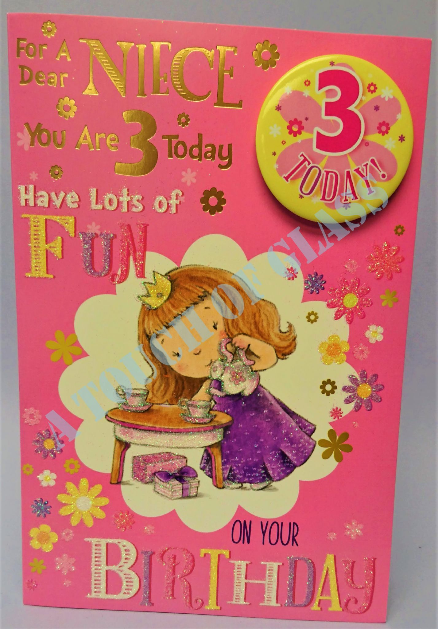 Niece 3rd Birthday Card