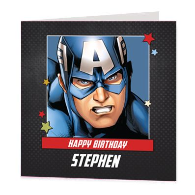 Captain America Luxury Personalised Card