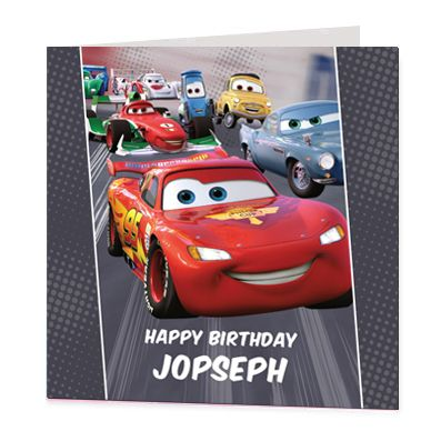 Cars Luxury Personalised Card