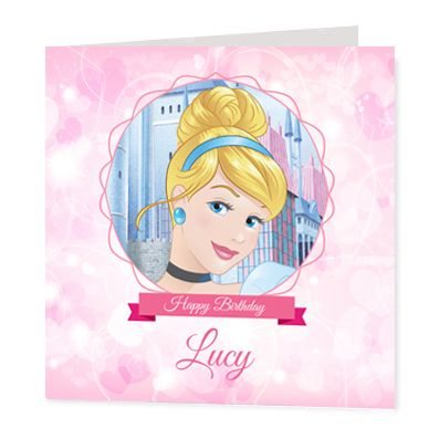 Cinderella Luxury Personalised Card