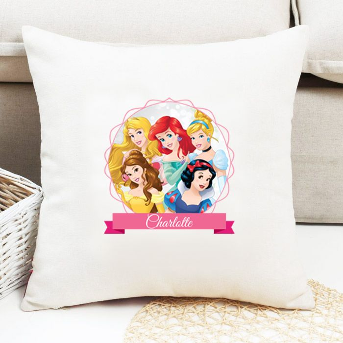 Disney Princess Personalised Cushion
