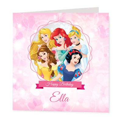 Disney Princesses Luxury Personalised Card