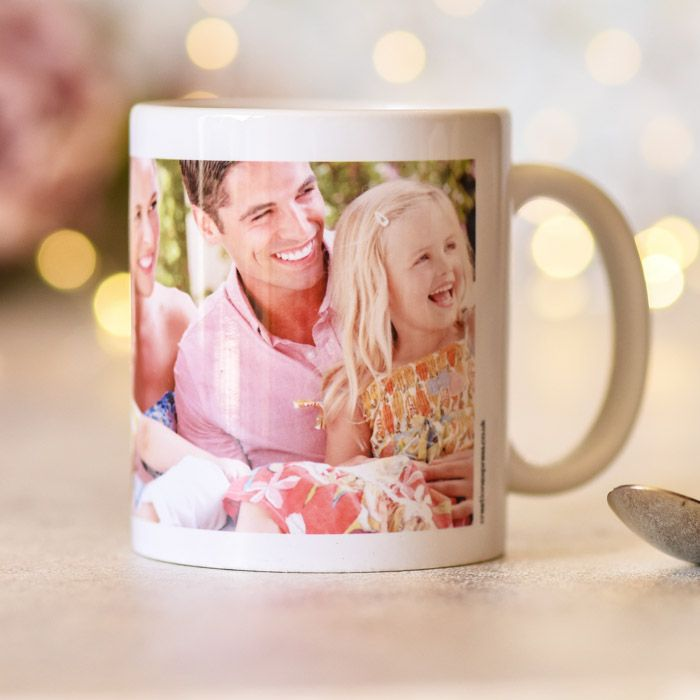 Easy One Photo With Text - Ceramic Mug