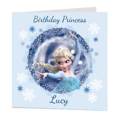 Elsa Luxury Personalised Card