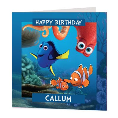 Finding Dory Luxury Personalised Card