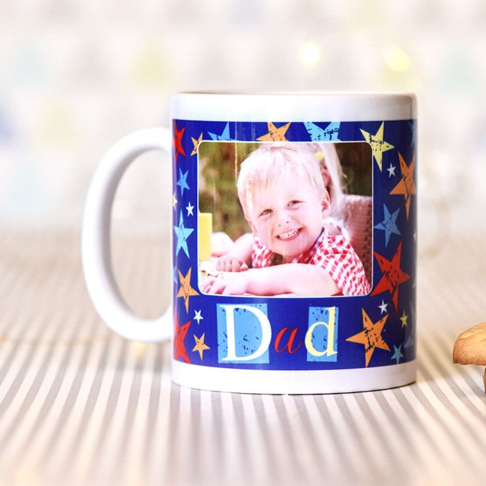 Grunge Star Dad With Photo Upload - Mug