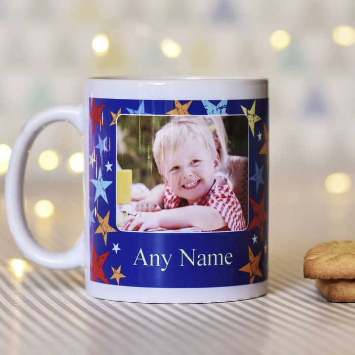 Grunge Star Editable Name With Photo Upload - Mug
