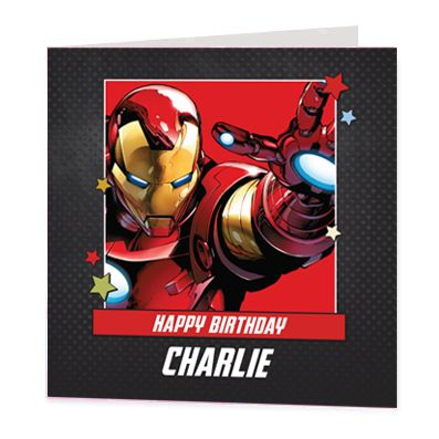 Iron Man Luxury Personalised Card