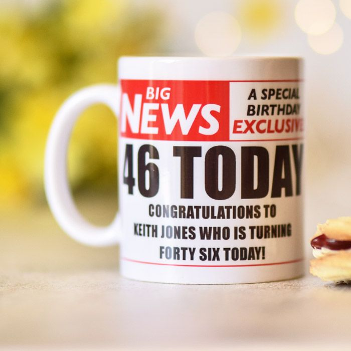 Newspaper Headline With Photo Upload - Ceramic Mug