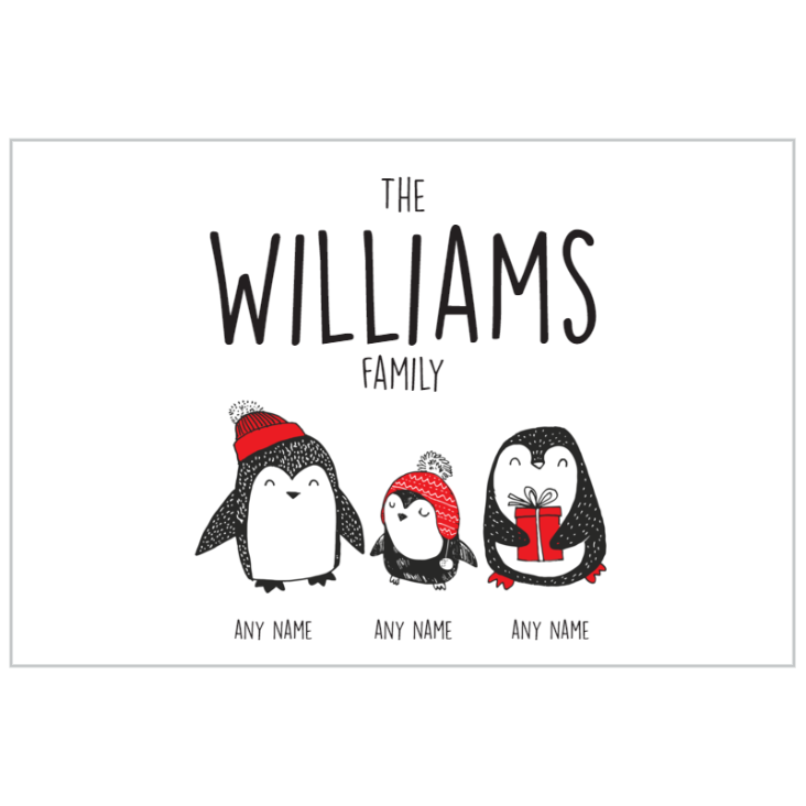 Penguin Family of 3 Plaque