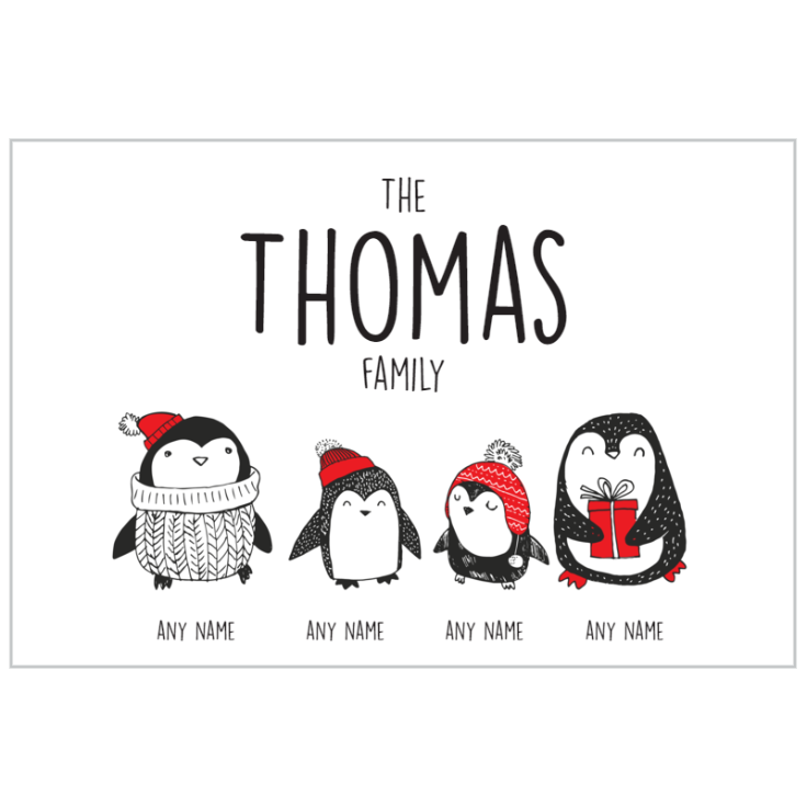 Penguin Family of 4 Plaque