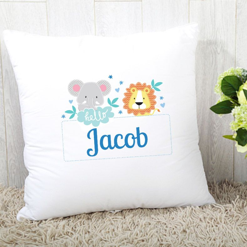 Personalised Boys Jungle Theme Cushion