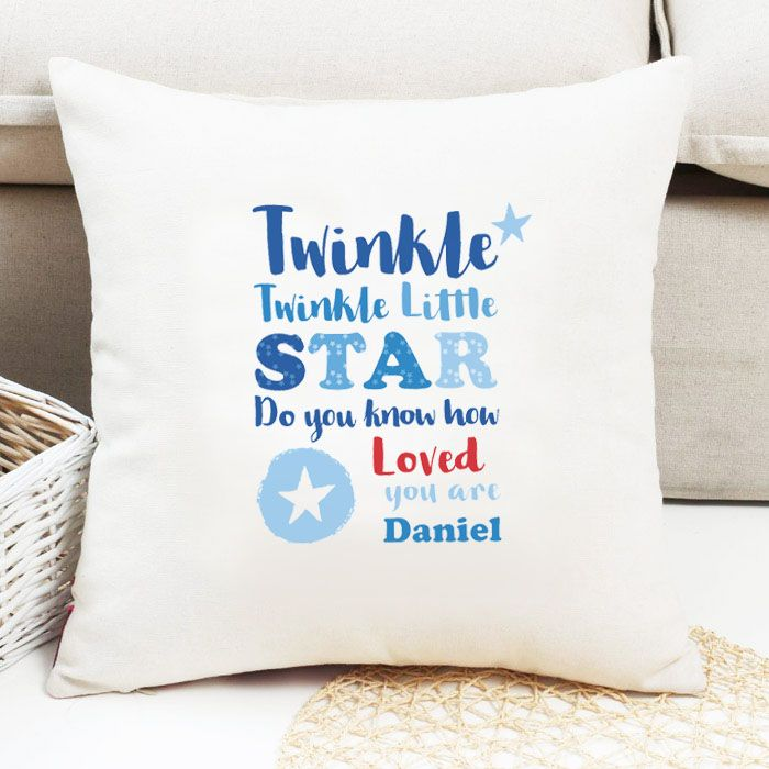 Personalised Boys 'Twinkle Twinkle' Cushion
