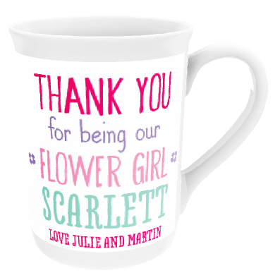 Personalised 'Flower Girl' China Cup