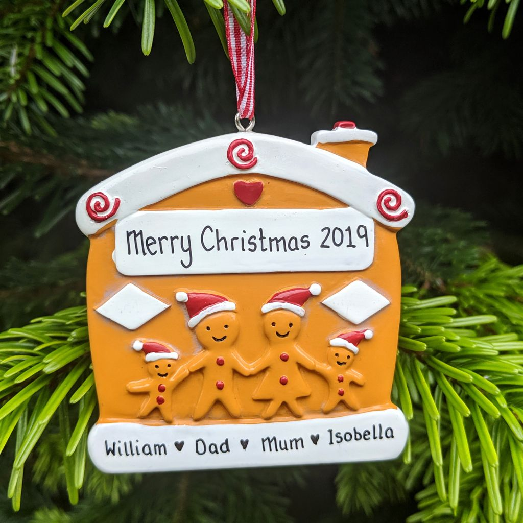 Personalised Gingerbread Family of 4
