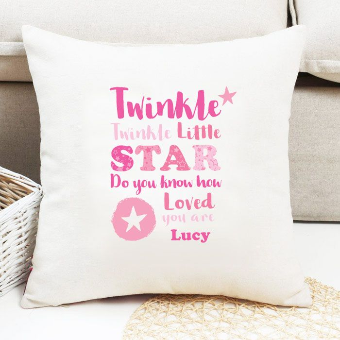 Personalised Girls 'Twinkle Twinkle' Cushion