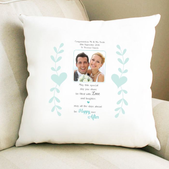Personalised Happy Ever After Photo Upload Cushion