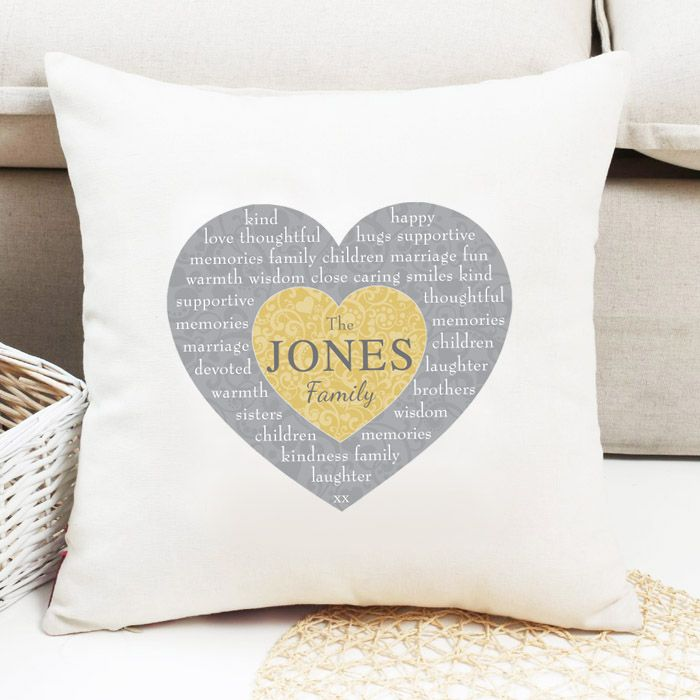 Personalised Heart Design Cushion