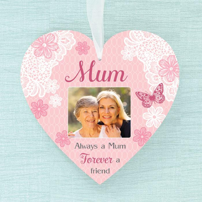 Personalised  Heart - Mum Always Sentiment