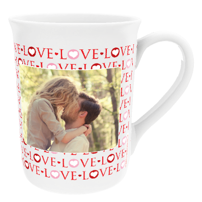 Personalised  'Love' Design China Cup