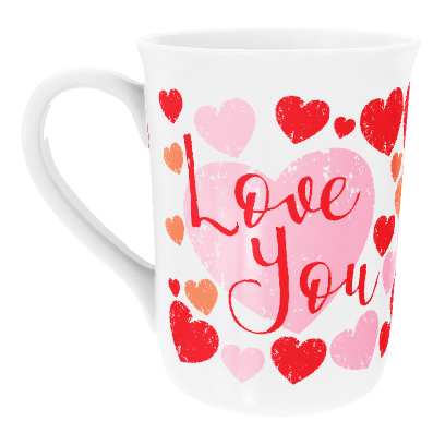 Personalised 'Love You' Heart Design China Cup