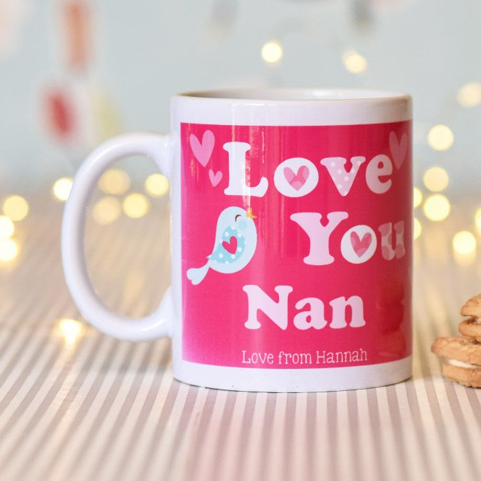 Personalised Love You With Cute Birdy - Mug