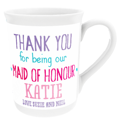 Personalised 'Maid Of Honour' China Cup