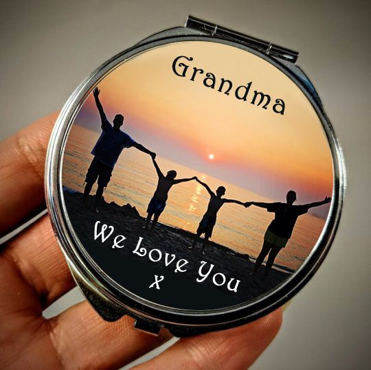Personalised Message & Photo Upload Compact Mirror