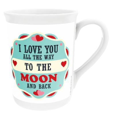 Personalised 'Moon And Back' China Cup