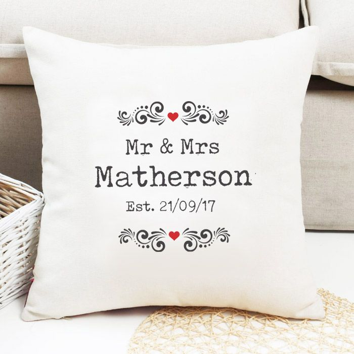 Personalised Mr & Mrs Cushion