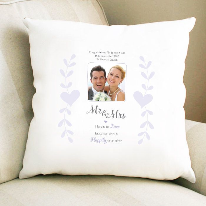Personalised Mr & Mrs Photo Upload Cushion