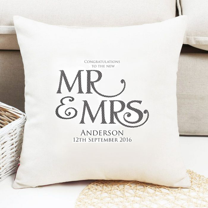 Personalised Mr & Mrs 'Surname' Cushion