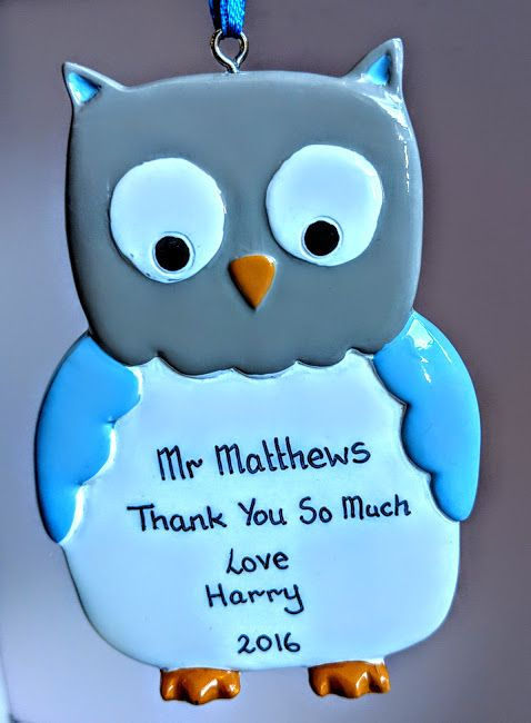 Personalised Owl Blue