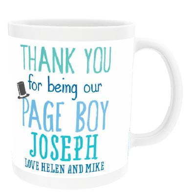 Personalised 'Page Boy' China Cup