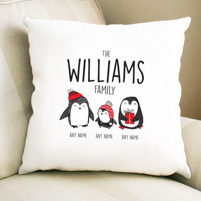 Personalised Penguin Family - 2 Parents 1 Child
