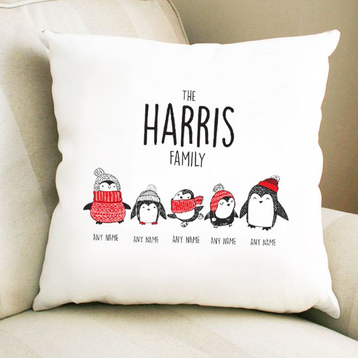 Personalised Penguin Family - 2 Parents 3 Children