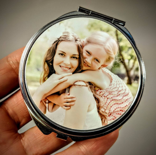 Personalised Photo Only Upload Compact Mirror