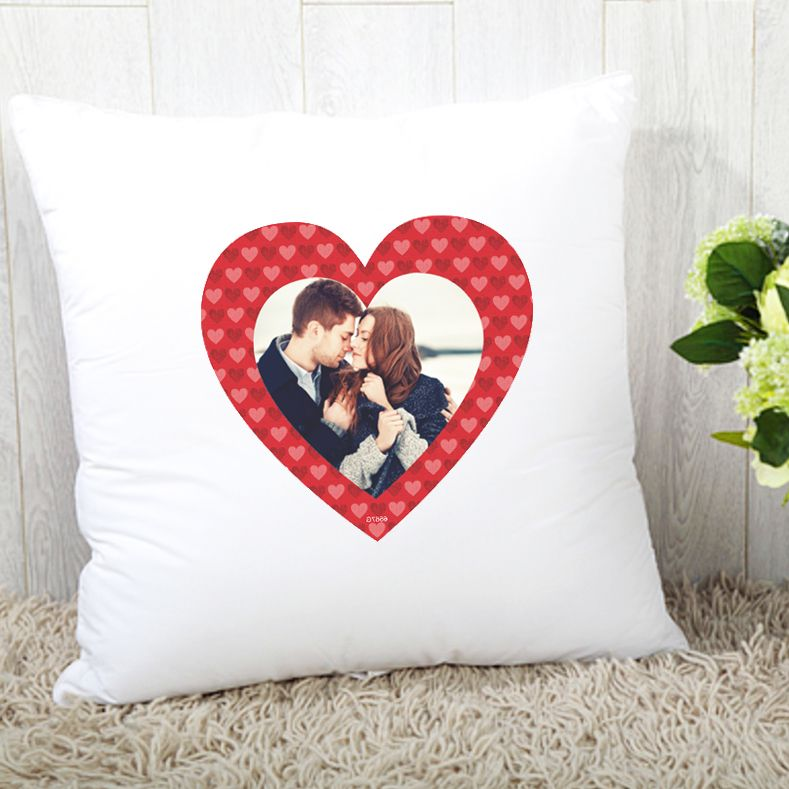Personalised Photo Upload Heart Cushion