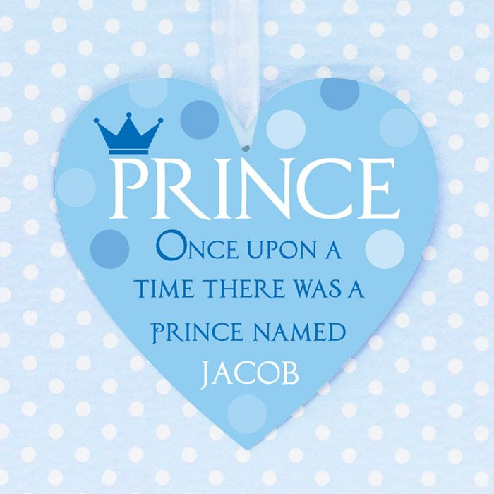 Personalised 'Prince' Hanging Heart
