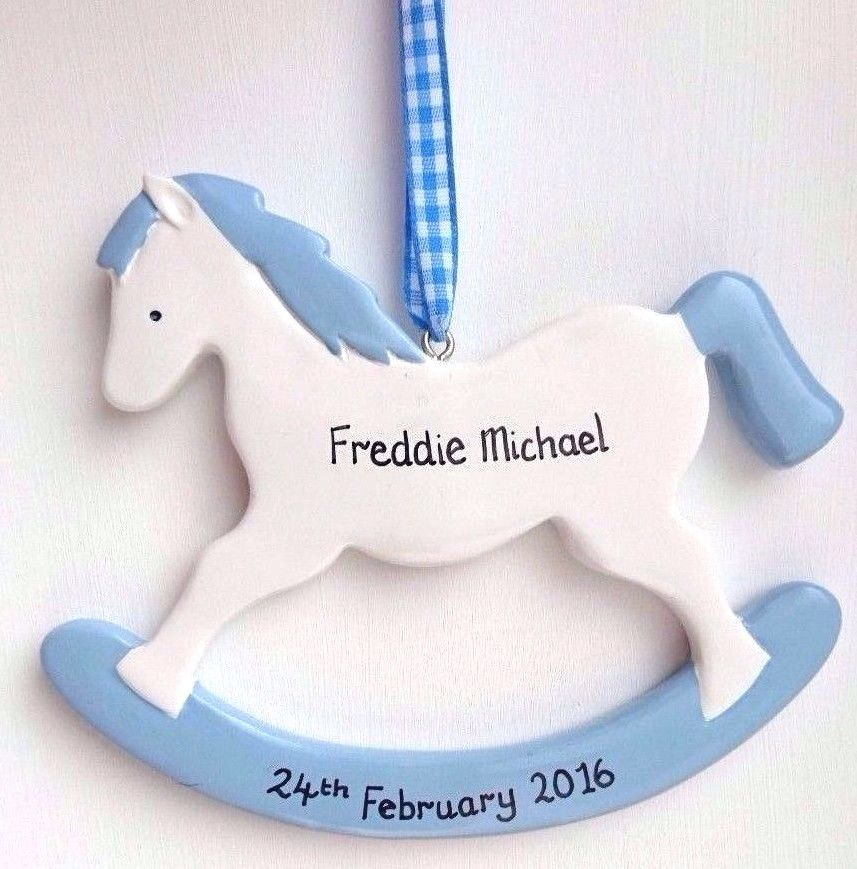 Personalised Rocking Horse in Blue