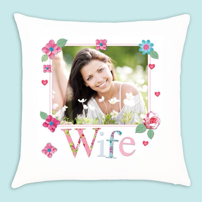 Personalised 'Wife' Photo Upload Cushion