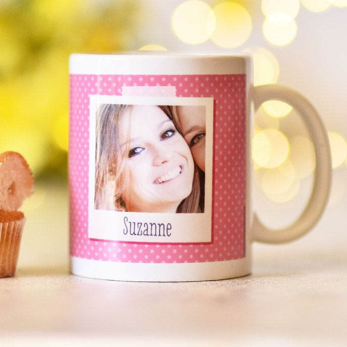 Photo Shots Pink Polka Dot - Mug