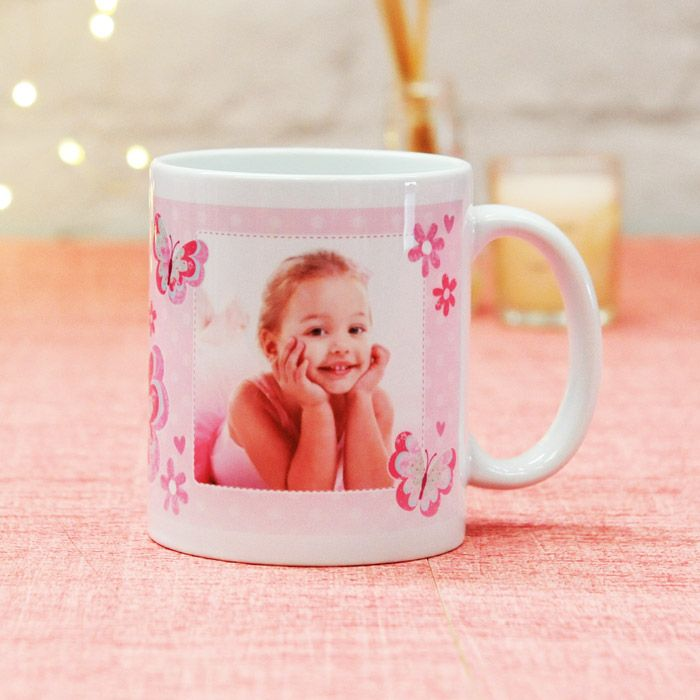 Pink Butterfly Name - Ceramic Mug