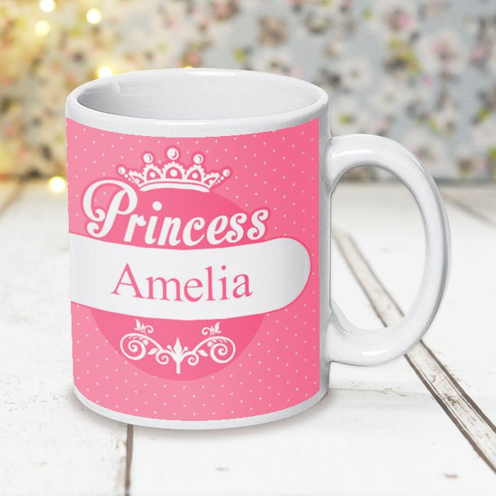 Pink Princess Design With Tiara - Mug