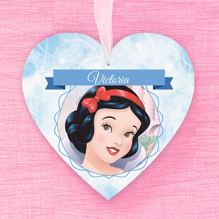Snow White Personalised Hanging Heart
